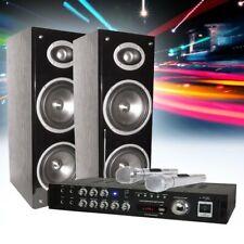 200 Watt Bluetooth KARAOKE PARTY set-conditioning AMPLIFICATORE MICROFONO caselle