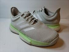 adidas Sole Court Boost Women's Tennis Shoes Gray White Green Ef2075 - Size 6