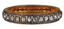 Diamond Silver Bangle Bracelet Jewelry Victorian 5.31ct Genuine Rose Antique Cut