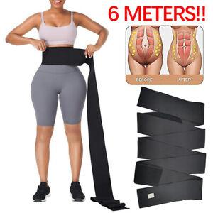 Plus Size Bandage Wrap Waist Trainer Tape Snatch Me Up Slimming Tummy Belt Fajas