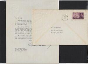 1947 Pulitzer Sc 946 signed Postmaster General Hannegan letter