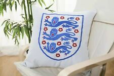 Embroidered England Football Team Cushion Cover Throw Pillow Case