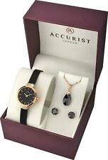 Accurist 8083G Ladies Watch, Earrings And Necklace Gift Set Rrp £199.00