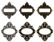 Tim Holtz Idea-ology Ornate Plates - Tim Holtz Metal Embellishments & Findings