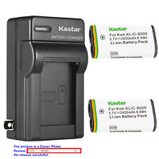 Kastar Battery Wall Charger for Kodak KLIC-8000 K8000 & Kodak K8500-C K7600-C