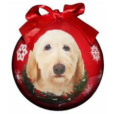Labradoodle (Yellow) Christmas Ball Ornament Dog Holiday Shatter Proof