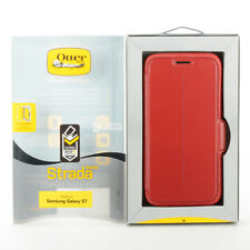 OtterBox STRADA Leather Wallet Folio Case Cover For Samsung Galaxy S7 - Red