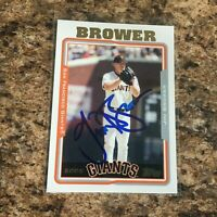 Jim Brower Signed 2005 Topps Auto San Francisco Giants