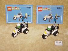 LEGO Serie: CITTA 'Junior: Police: POLIZIOTTO Chopper 6324-1 (1998) 100% Con Minifigura X2!