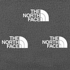 3 North Face White Iron On Vinyl Logo 2 Inches free shipping!