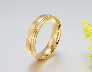 CZ Couple Ring Gold Plated Lover's Stainless Steel Wedding Engagement Band Rings