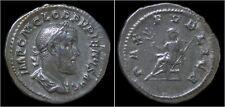Pupienus AR denarius Pax seated left
