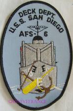 PUS482 - US NAVY SHIP USS SAN DIEGO AFS-6 DECK DEPT PATCH Original Vintage