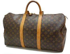 Authentic LOUIS VUITTON  MONOGRAM  KEEPALL 50 DUFFLE BAG MB8911 0331a