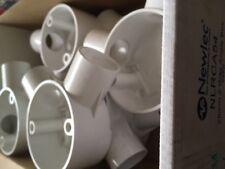 Newlec NLRCA54 25mm 2 Way Angle Box WHI Box of 10 Conduit & Trunking