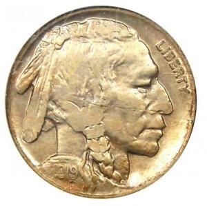 1919-D Buffalo Nickel 5C - ANACS AU50 (Mint Error) - Rare Date Certified Coin!