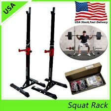 2pcs Squat Rack Bench Press Power Weight Rack Barbell Stand Gym Home Adjustable