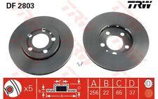 TRW Juego de 2 discos freno Antes 256mm ventilado SEAT CITROEN PEUGEOT DF2803
