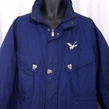 Triple FAT Goose Down Parka Coat Vtg 80s 90s Ski Show Jacket Quilted Size XL