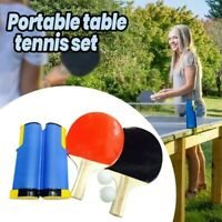 Instant Retractable Table Tennis Net Set with Balls & Paddles Portable Ping Pong