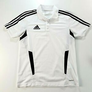 ADIDAS Climalite Mens White Activewear Polo Shirt Size Extra Small