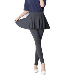 Hot Sale! Korean Women Two-Piece-Like Cashmere Pleated Skirt Trousers Pantskirt