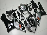 Black Silver-Gray ABS Injection Bodywork Fairing Kit Fit for GSXR1000 2005 2006