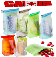 Reusable Silicone Food Storage Bags for Liquid,Meat,Sandwich,Fruit Dishwasher CA