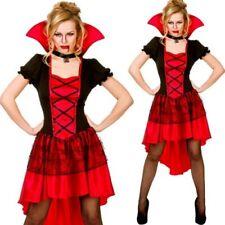 Glamorous Vampire Outfit Halloween Ladies Fancy Dress Vampiress Costume