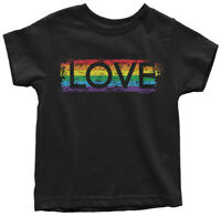 Gay Pride Rainbow Love Toddler T-Shirt Lesbian LGBT