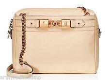 Juicy Couture Black Label Hillcrest Camel Leather Rose Gold Shoulder Bag