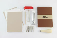 Lino Cut starter kit for printmaking, printing, prints & stamps ink 28 pieces
