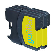 2 Yellow Ink Cartridges compatible with Brother DCP-195C MFC-290C MFC-490CW