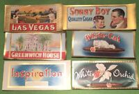 INSPIRATION Lot Of 6 EXQUISITE OLD Cigar Box END Labels  FREE SHIPPING