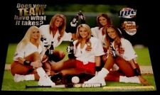 Vtg Sexy ASA Hooters Softball Team Easton Bat Miller Lite Promo Poster