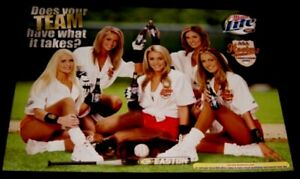 Sexy ASA Hooters Softball Team Easton Bat Miller Lite Promo Poster Limited made