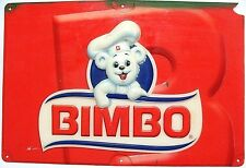 "HUGE 24''x16"" 3D BIMBO white baby polar bear Sign Bread Costa Rica bakery decor"