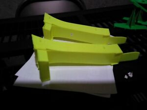 Vintage Hot Wheels Jump Ramps, lot of 2, Neon Yellow