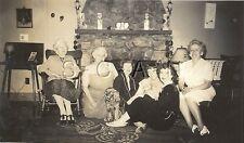 Original Vintage 1940s Large Rp- Dog- Cocker Spaniel- Women- Fireplace- Jul 1948