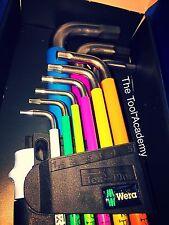 Acero Inoxidable Brillante! Wera color Hex Allen Llaves Largo 1.5mm > 10mm en titular