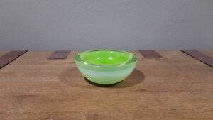 Thick Neon Green Vintage Murano Glass Geode Bowl by Archimede Seguso