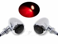 Motorcycle Bullet LED Turn Signal + Brake + Running Tail Lights Retro Vintage