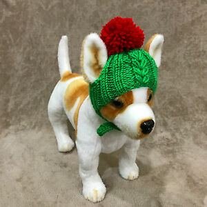 Pet Clothes  Hand-Knit Hat Pom Pom Christmas Hat for Small Dog XXS XS S