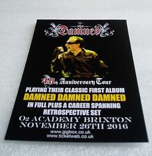 THE DAMNED - Promo FLYER - 40th Anniversary Brixton Academy London PUNK Handbill