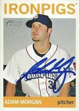 Adam Morgan Iron Pigs 2013 Topps Heritage Signed Card