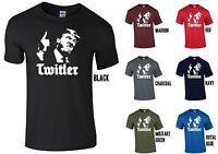 Donald Trump TWITLER T-Shirt - USA AMERICA HITLER NAZI PARODY 2017 FUNNY JOKE