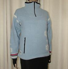VINTAGE BEAUTIFUL LIGHT BLUE DALE OF NORWAY WINDSTOPPER SIZE MEDIUM  BUST 38