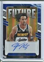 ZEKE NNAJI 2020-21 PANINI ABSOLUTE AUTO FUTURE #'D 21/25 DENVER NUGGETS RC