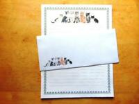 Kitty Coral Stationery Writing Set 12 Sheets 6 Envelopes - Lined Stationary