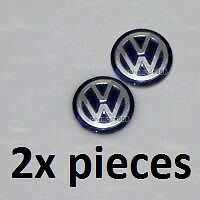 2x (Blue) VOLKSWAGEN Replacement Key Fob Logo Sticker Badge 15 mm